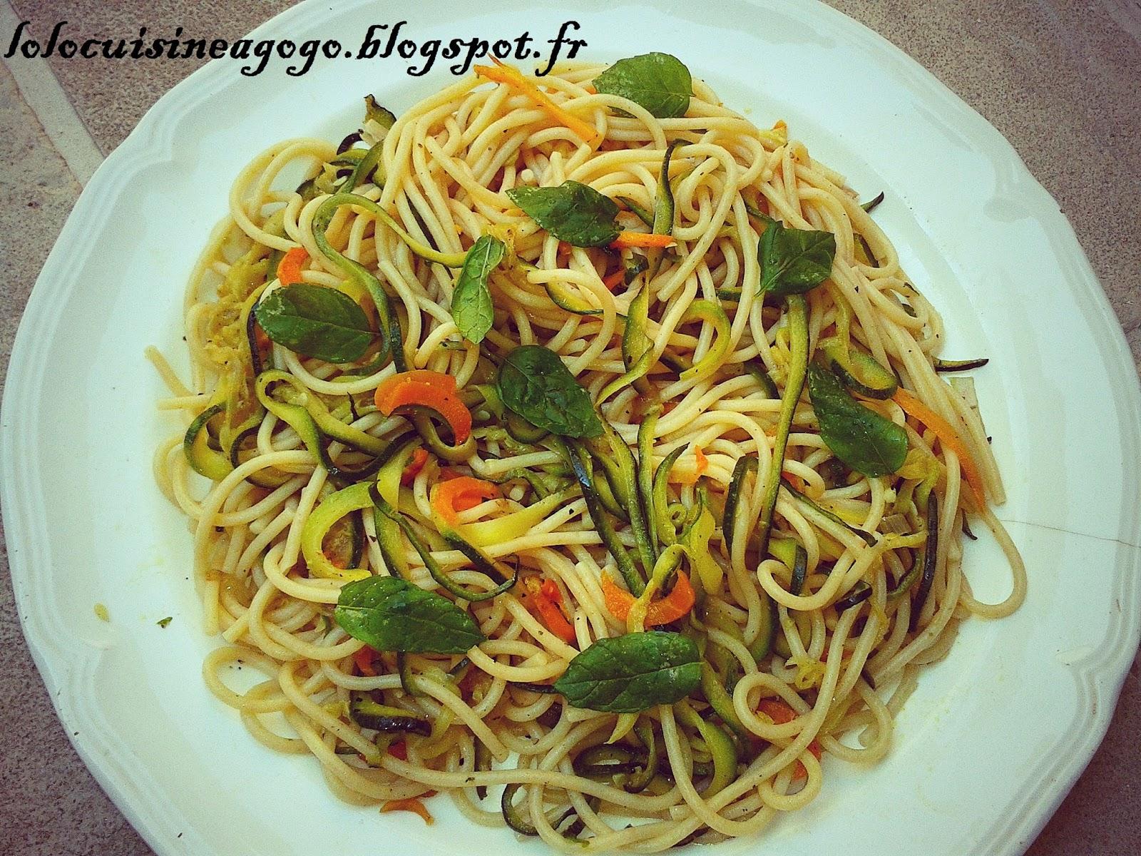 spaghetti courgette carotte