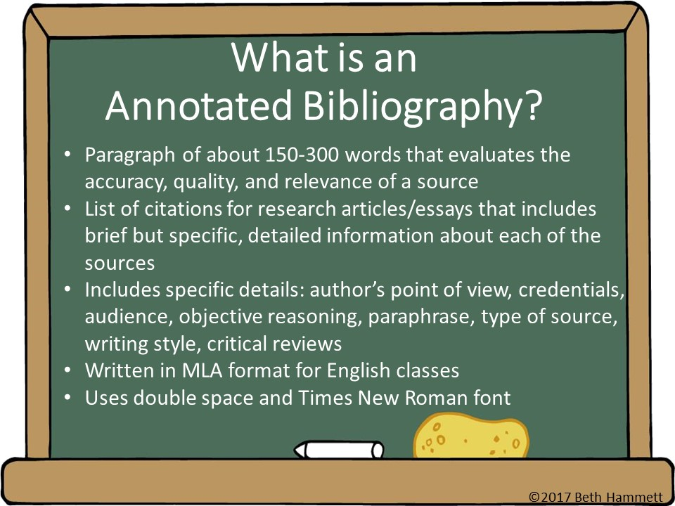 education helper  writing an annotated bibliography step