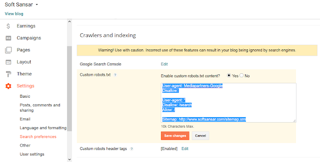 How To Create Custom Robots.txt For Blogger Website