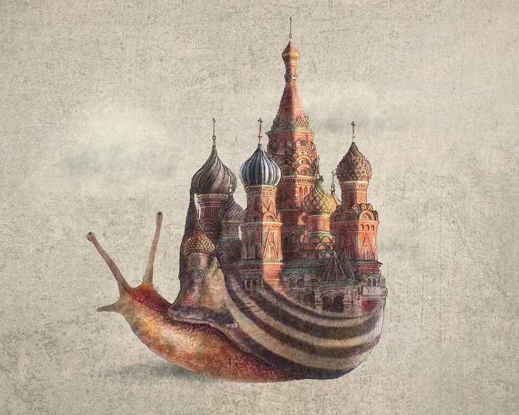 11-The-Snails-Daydream-The-Fan-Brothers-Surreal-Illustrations-www-designstack-co