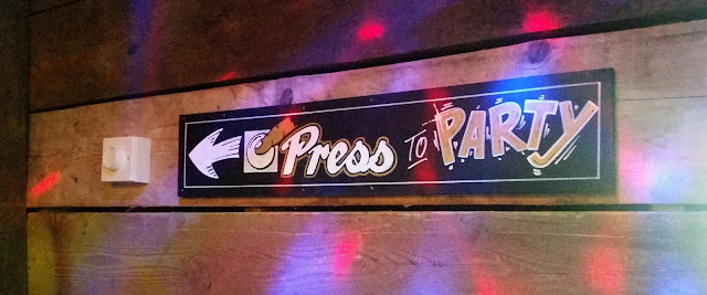 Press to party button at Roxy Ball Room Liverpool