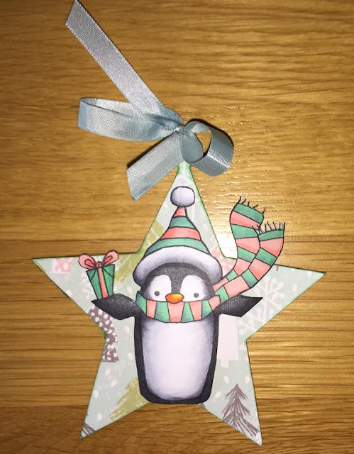 Star Penguin ornament