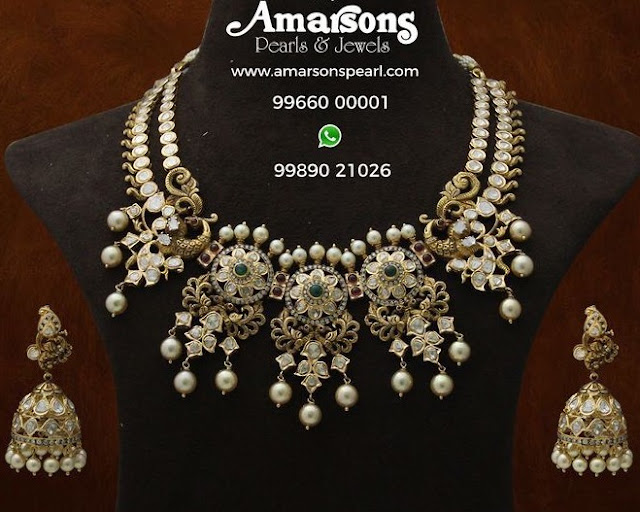 Two Layer Pachi Necklace by Amarsons Jewellers