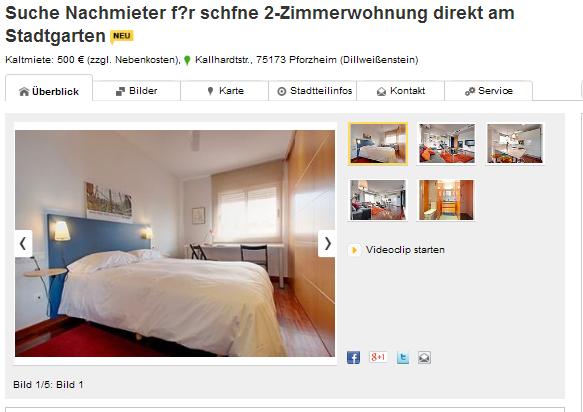 Wohnung Pforzheim Immowelt