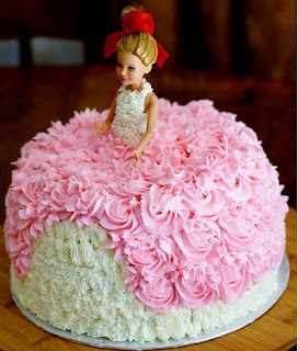 gambar kue ulang tahun tema barbie