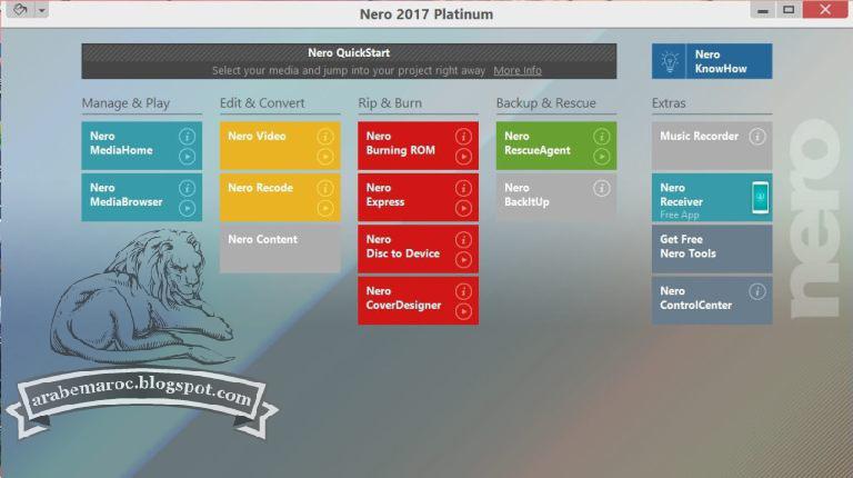 nero 2017 platinum serial crack