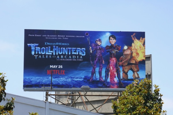 Trollhunters Tales of Arcadia season 3 billboard