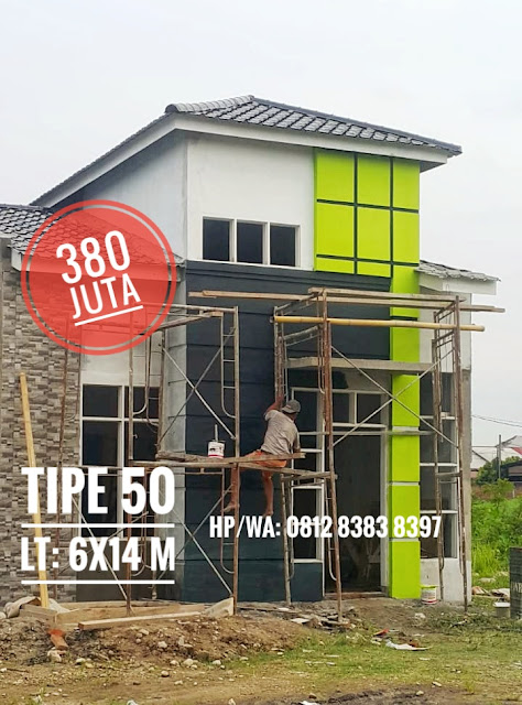 Jual rumah cantik minimalis tipe 50 hanya 380 Juta Vanttagio  Gaperta Residence di Jalan Banten Baru Gaperta Ujung Medan