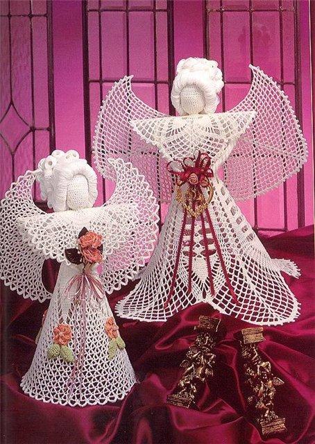 Materiales gráficos Gaby: Ángel tejido a crochet