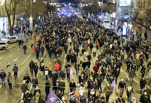 Ismét tüntettek Budapesten