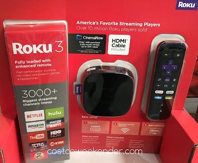 Watch your favorite shows on Netflix, Amazon, or Hulu with the Roku 3 4230X Streaming Player