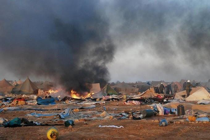 Un dia como hoy de 2010, el ejército de ocupación marroquí ataca el campamento saharaui de Gdeim Izik.
