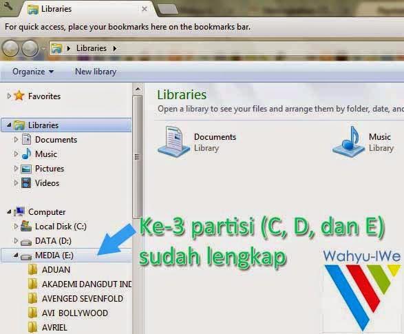Cara mengembalikan partisi hardisk yang hilang tanpa software