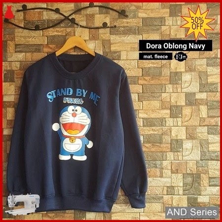 AND427 Sweater Wanita Dora Oblong Biru Navy BMGShop