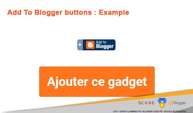 Différents types de boutons AddToBlogger.