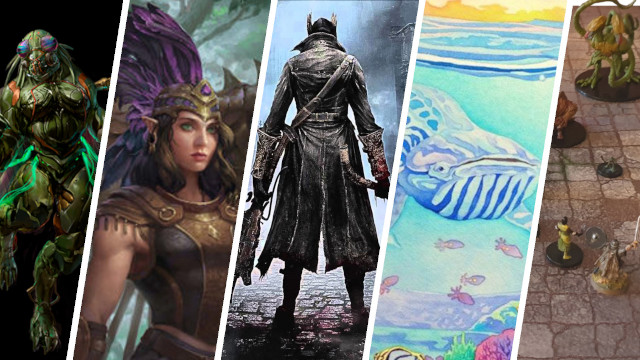 Kickstarter Highlights - Odyssey of the Dragonlords, Bloodborne, Oceans, Dungeon Battle Maps, Core Ball,, Plague Inc Armageddon Board Game