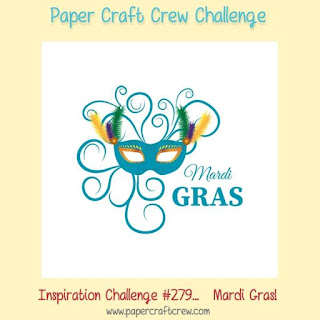 Paper Craft Crew Mardi Gras Inspiration Challenge #PCC279 using Stampin' Up! products order SU craft supplies from Mitosu Crafts UK Online Shop