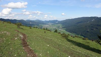 Blick Richtung Balsthal vom Vorderen Brandberg aus