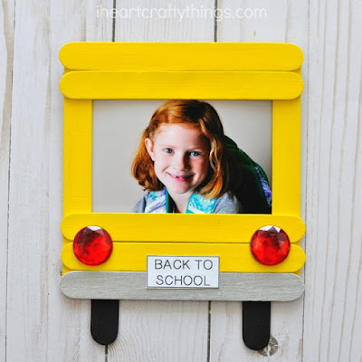 school bus back to school keepsake craft
