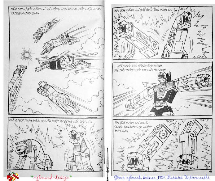 Dũng Sĩ Hesman tập 3 - mãng xà giả dạng trang 22
