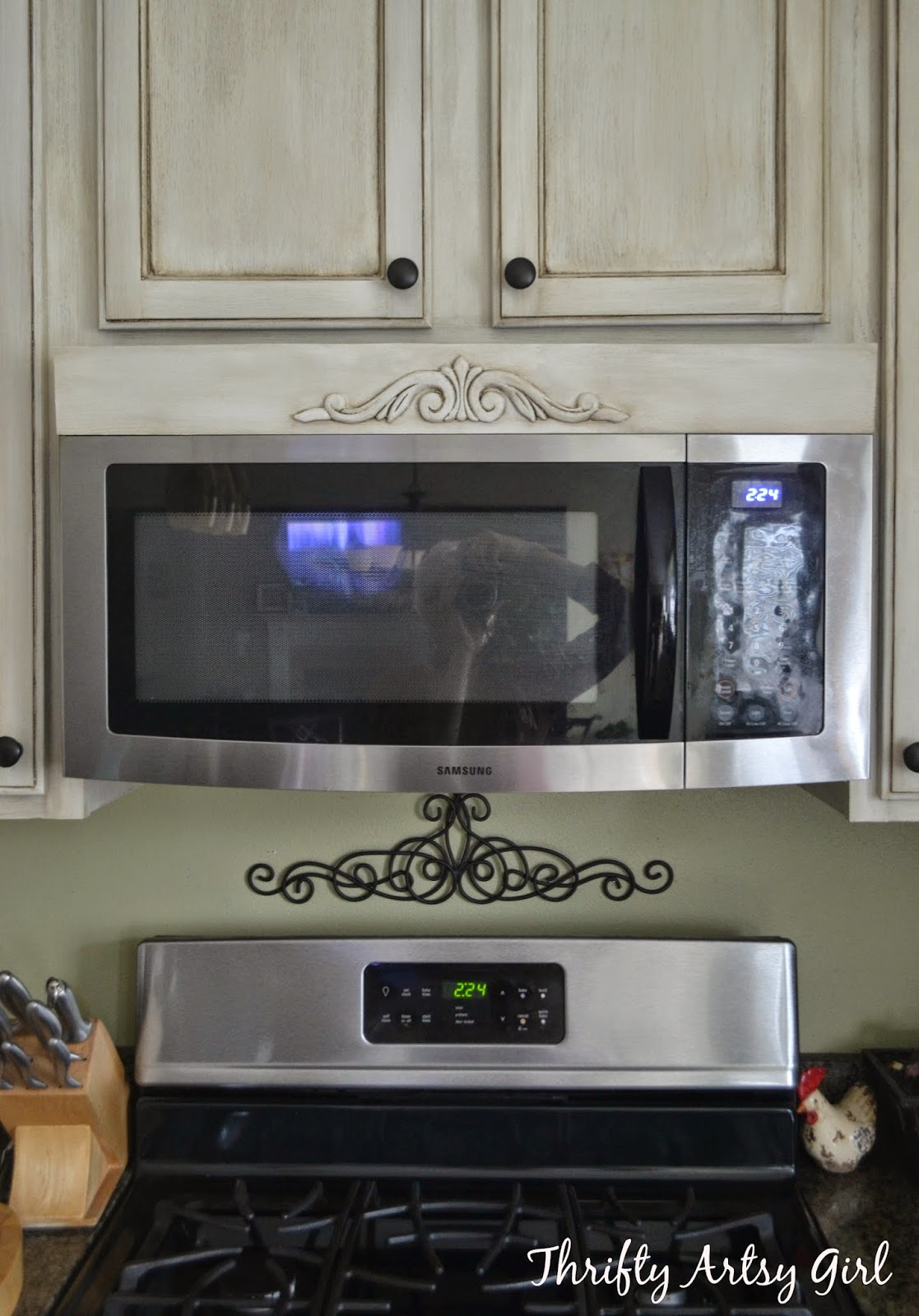 Thrifty Artsy Girl Diy Tuscan Above The Range Microwave