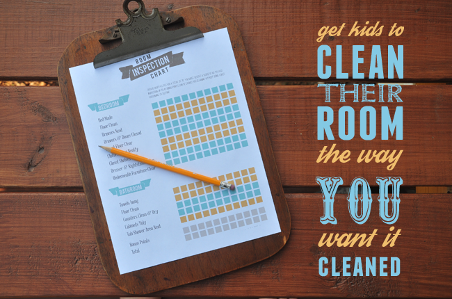 Downloadable chore chart to help kids clean their rooms - editable version too