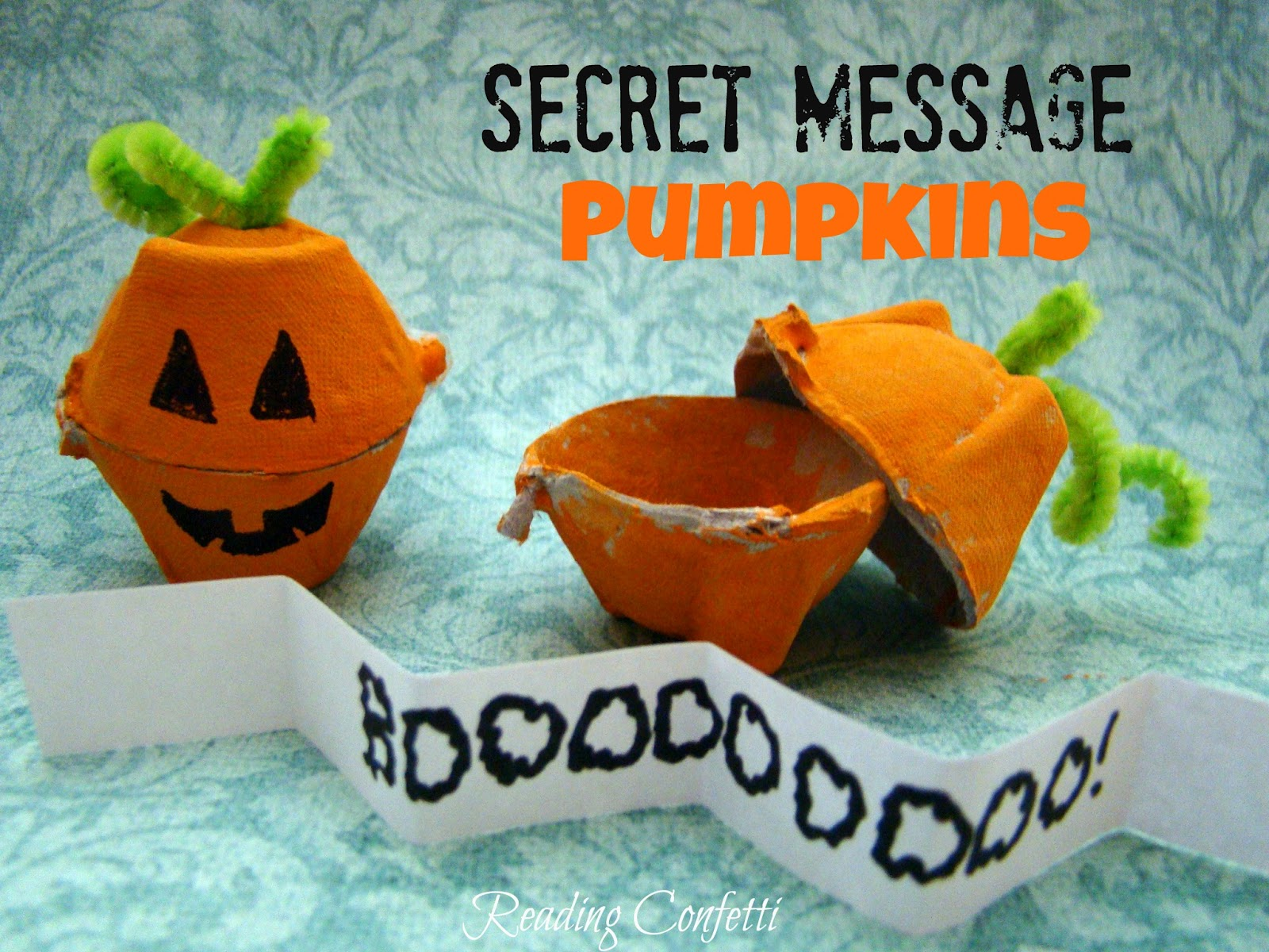 Secret Message Pumpkins Reading Confetti