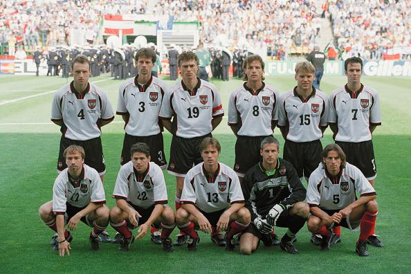 Formación de Austria ante Chile, Copa del Mundo Francia 1998, 17 de junio