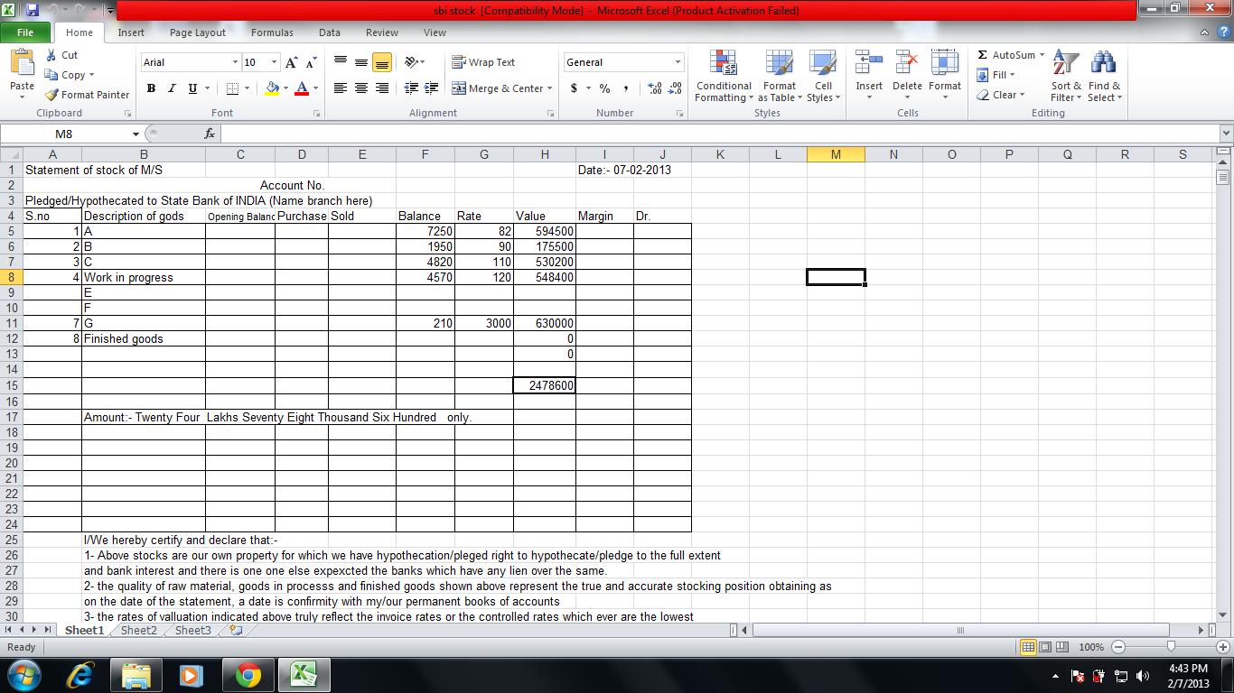 internet banking sbi form download excel