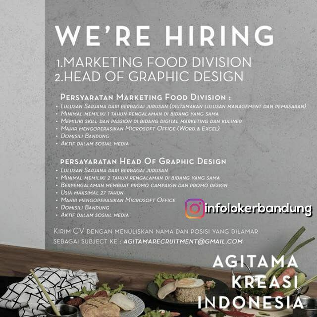 Lowongan Kerja CV Agitama Bandung Desember 2017 width=