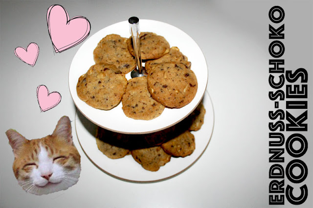 Erdnuss-Schoko Cookies Blogger Rezept auch vegan