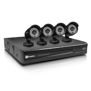 New Swann 8-CH 1TB 4-Infrared 720p Network DVR Surveillance Security Camera Kit