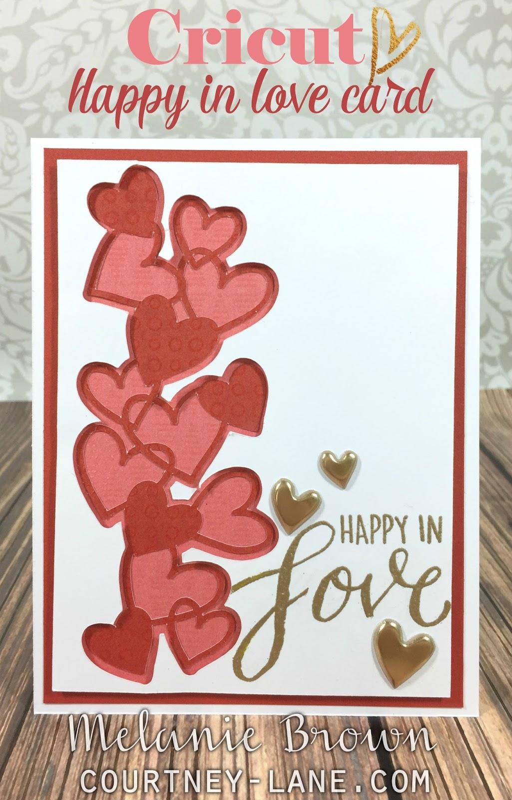 courtney lane designs cricut happy in love card