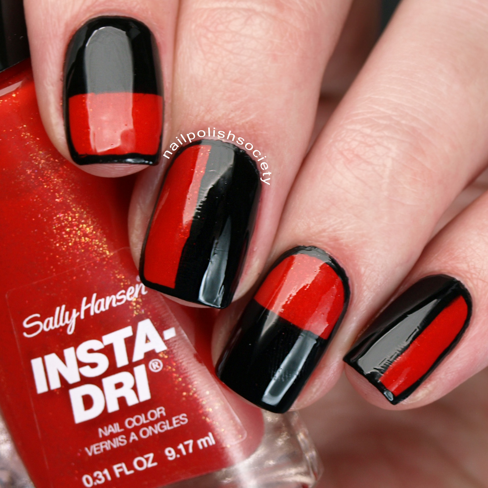 40 Great Nail Art Ideas Red Half