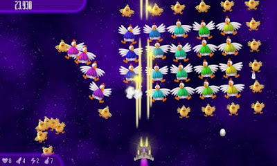 تحميل لعبة الفراخ الجديدة للاندرويد مجانا برابط مباشر Chicken Invaders