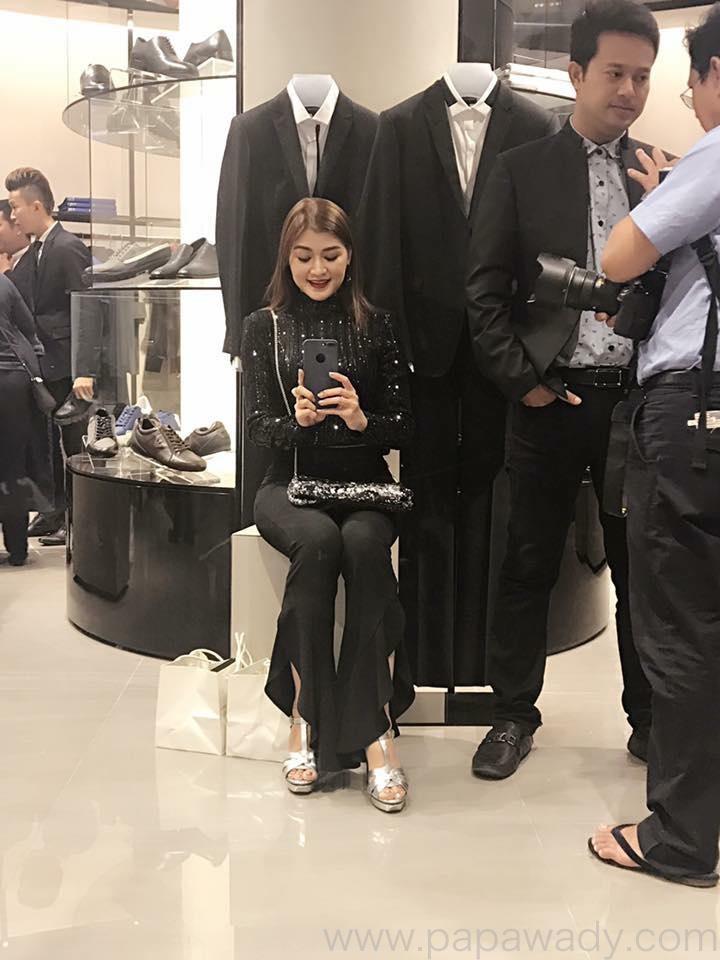 Nay Toe , Pyay Ti Oo , Nine Nine and Eaindra Kyaw Zin At Armani Fashion Shop Opening