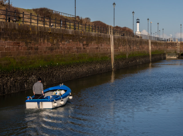 Photo of another fisherman setting off to fish on the Solway Firth