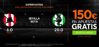 888sport bienvenida 150 euros + supercuota 6 o 20 Sevilla o Betis gana Liga 20 septiembre