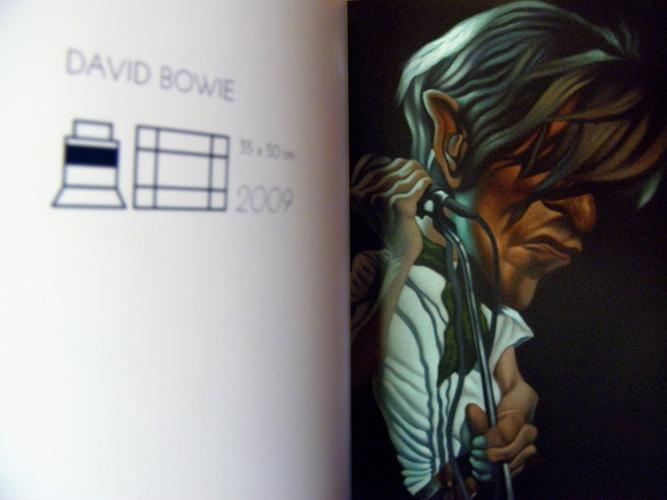 Caricatura pintada en óleo realizada por David Pugliese