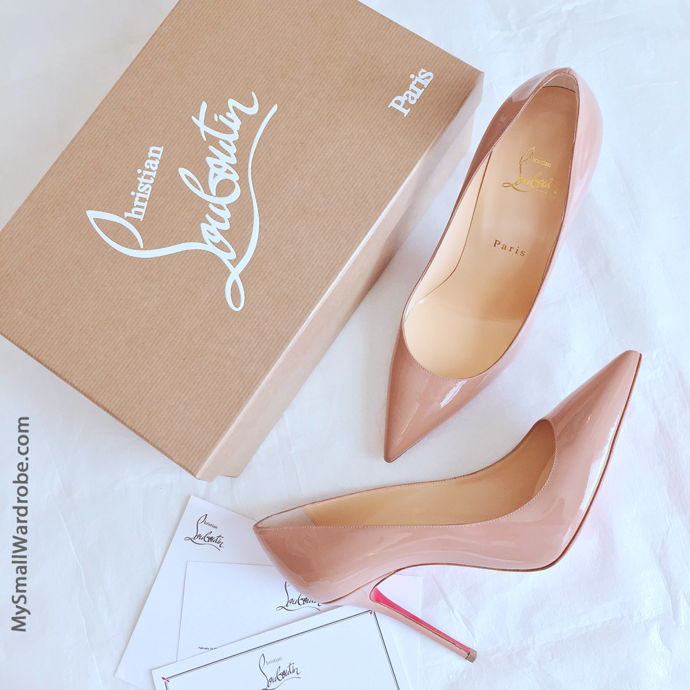 Christian Louboutin Decollete Nude Pumps