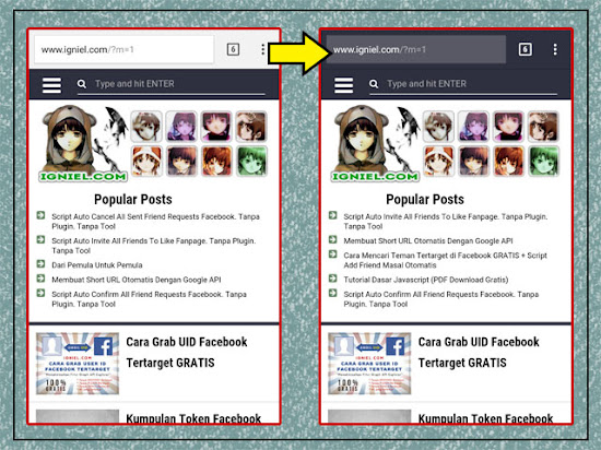 Mengganti Warna Address Bar Browser Handphone Agar Sesuai Layout Blog - igniel.com