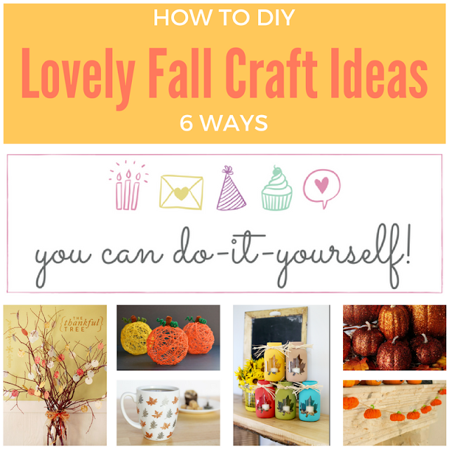 6 lovely fall craft ideas