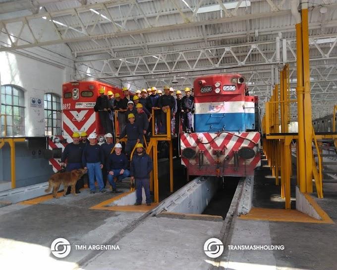 Los Talleres de Mechita volvieron a reparar locomotoras