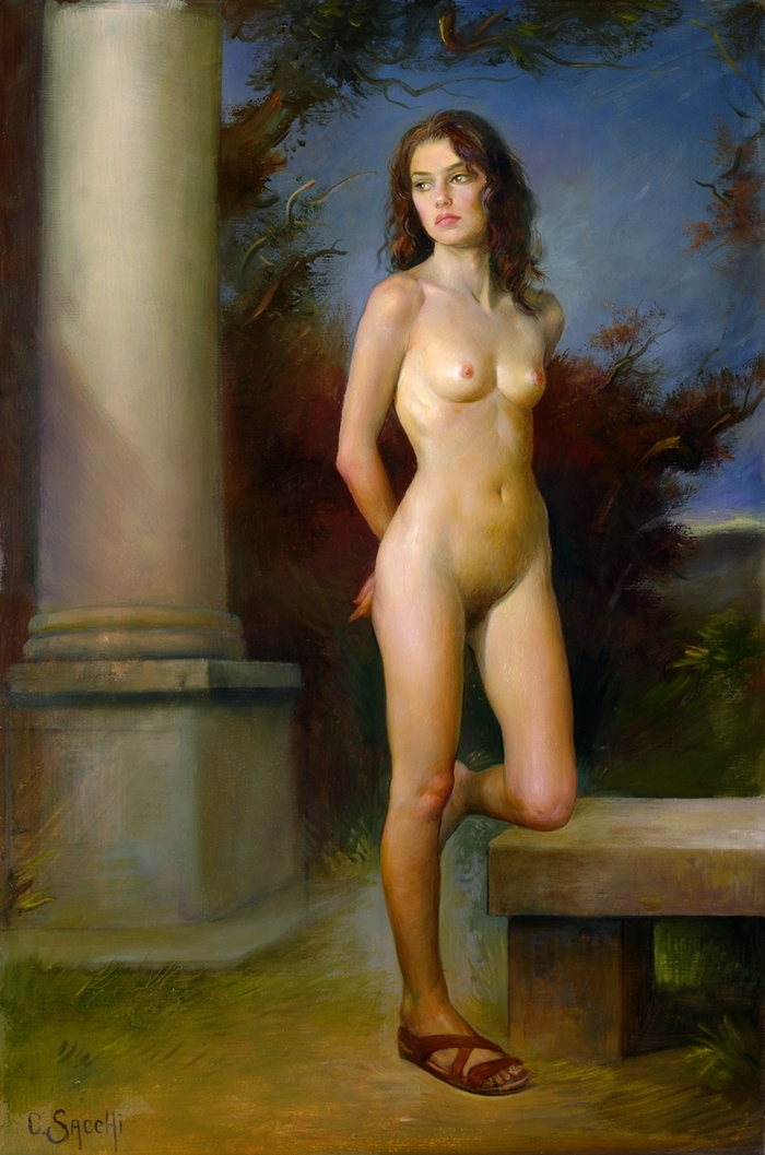 Magic Realism | Claudio Sacchi 1953 | Italian Portrait painter