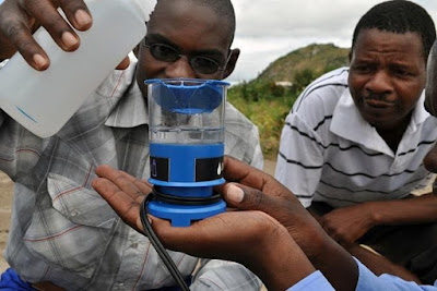 A Tiny device that can produce clean drinking water.