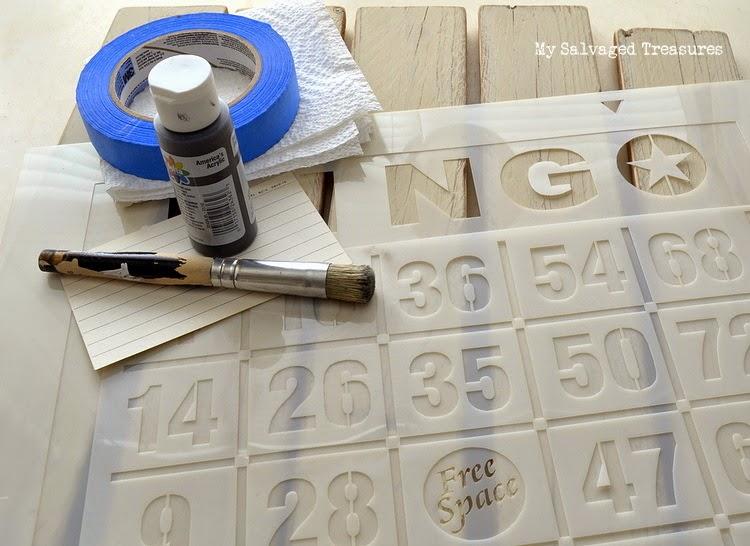 #oldsignstencils Bingo stencil supplies