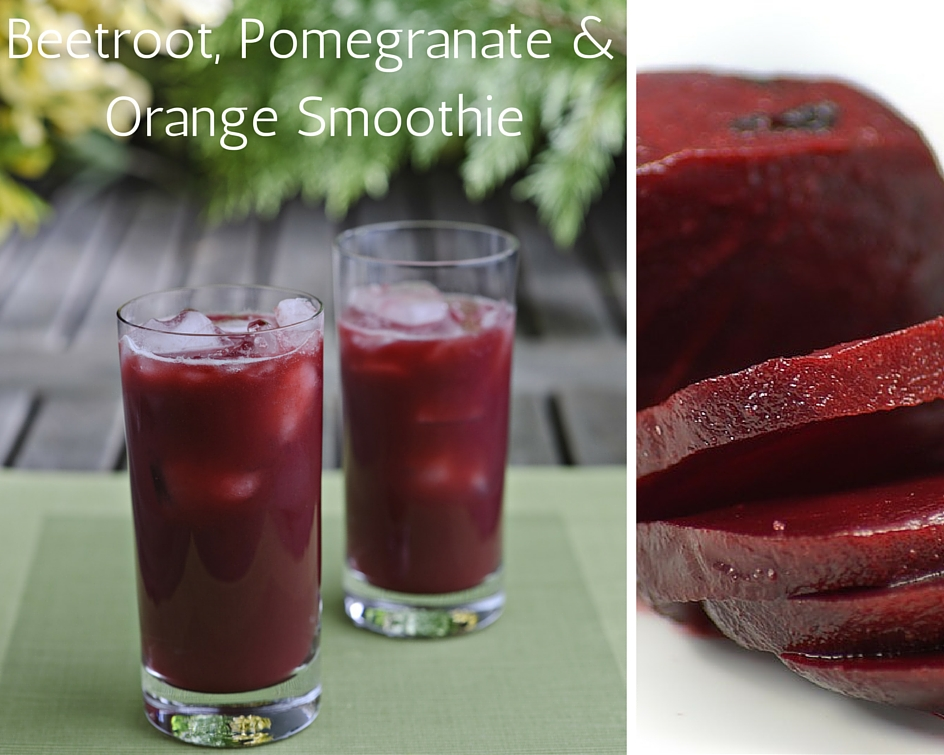 Beetroot, Pomegranate And Orange Smoothie