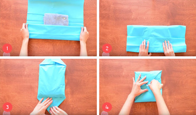 Cara Membungkus Kado Baju Tanpa Kotak