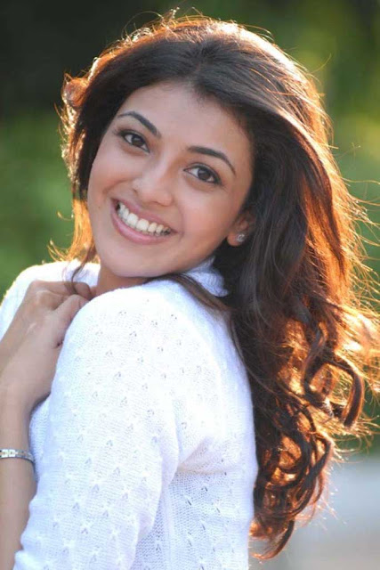 Kajal Agarwal Stills In White Dress