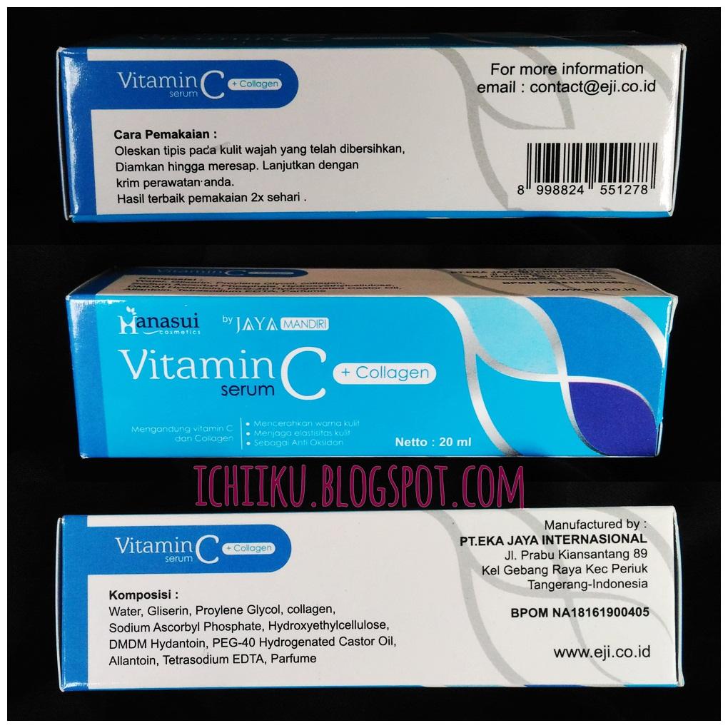 Review Serum Whitening Gold Dan Vit C Collagen Hanasui Anti Acne Bpom Cara Penggunaan